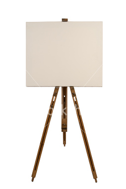A canvas and easel are also needed in the video, for the girl